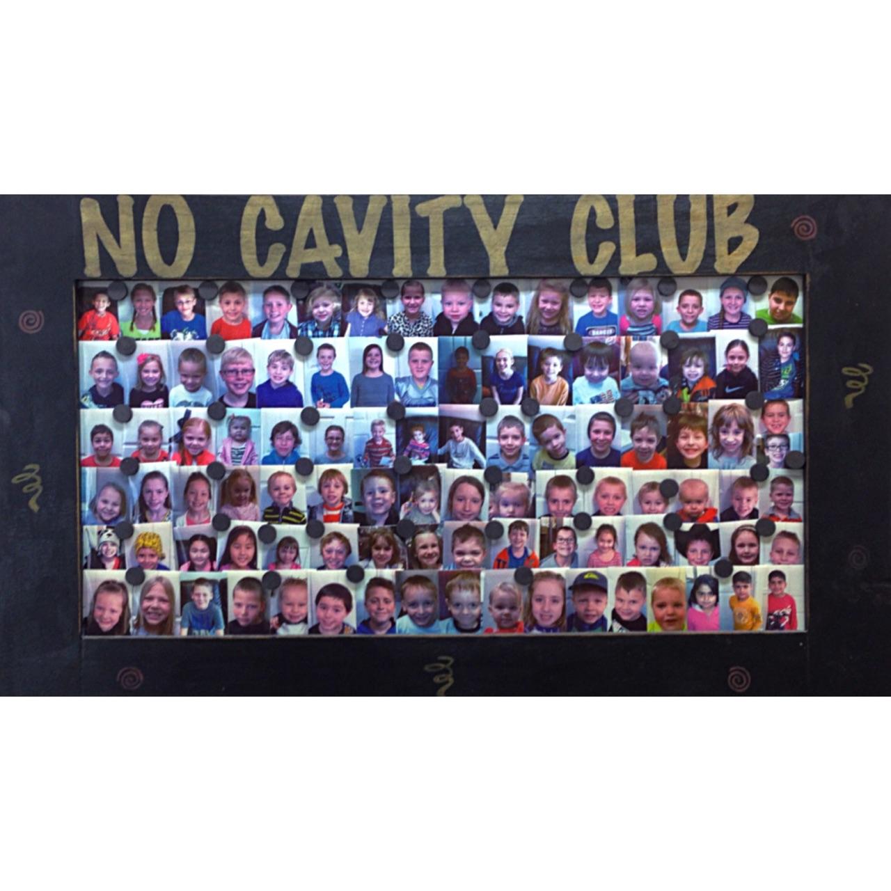 No Cavity Club board